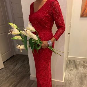 Evening or Wedding Dress red sequence dress